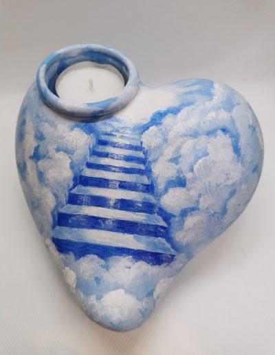 Janus-Herz mit Teelicht-003
